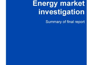 Cover: CMA Energy market investigation