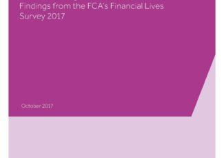 Cover: FCA, Financial Lives survey 2017